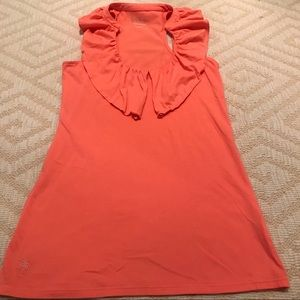 Lilly Pulitzer Ruffle Racer Back Tank Top